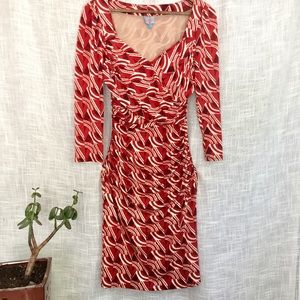 Plenty by Tracy Reese Wrap Style Red Print Dress